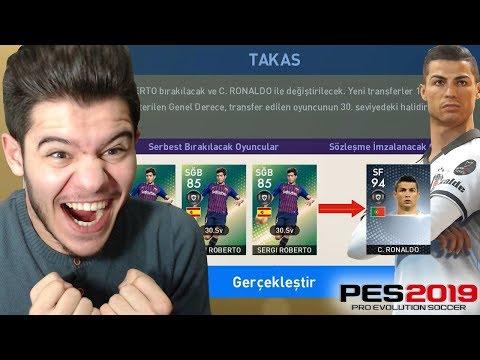 TÜRKİYE'DE İLK!! TAKASLA RONALDO'YU ALDIM !! - PES 2019