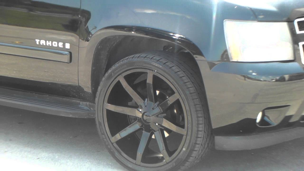 All Chevy 24 chevy rims : 877-544-8473 24 Inch KMC KM651 Slide All Black Wheels Chevy Tahoe ...