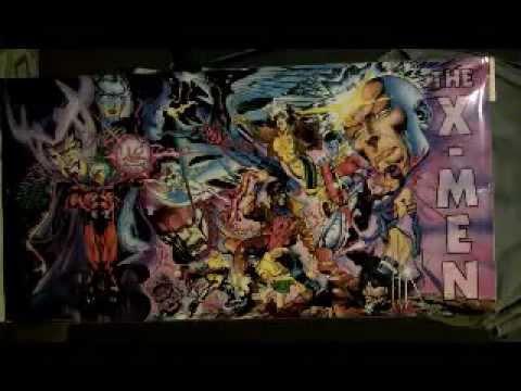 Rare Marvel Giant-Size X-Men Door Poster:Wolverine/Rogue/Gambit/Psylocke/Bishop