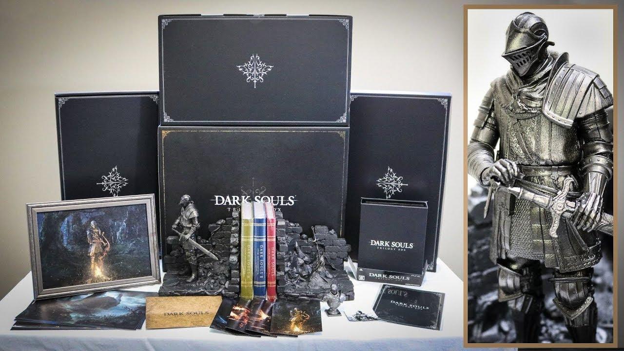 DARK SOULS Bonus Book Ends Figure Set from PS4 Limited Trilogy Box JAPAN