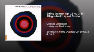 String Quartet Op. 18 No 2: IV. Allegro Molto quasi Presto