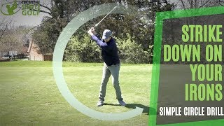 Simple Golf | Strike Down on Irons Lesson to Dial in Your Circle