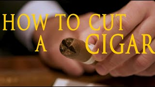 How To Cut A Cigar With Davidoff of...