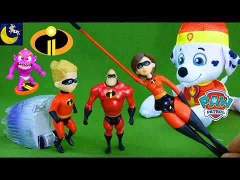 Incredibles 2 Toys get Stolen Mr Incredible Dash Elastigirl Paw Patrol Funny Story Video for Kids