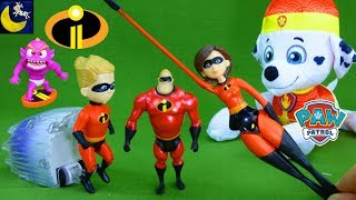 Incredibles 2 Toys get Stolen Mr Incredible Dash Elastigirl Paw Patrol Funny Story Video for Kids