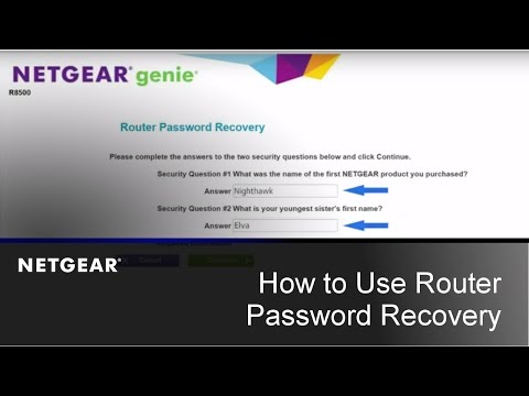 How do I recover my NETGEAR admin password using the
