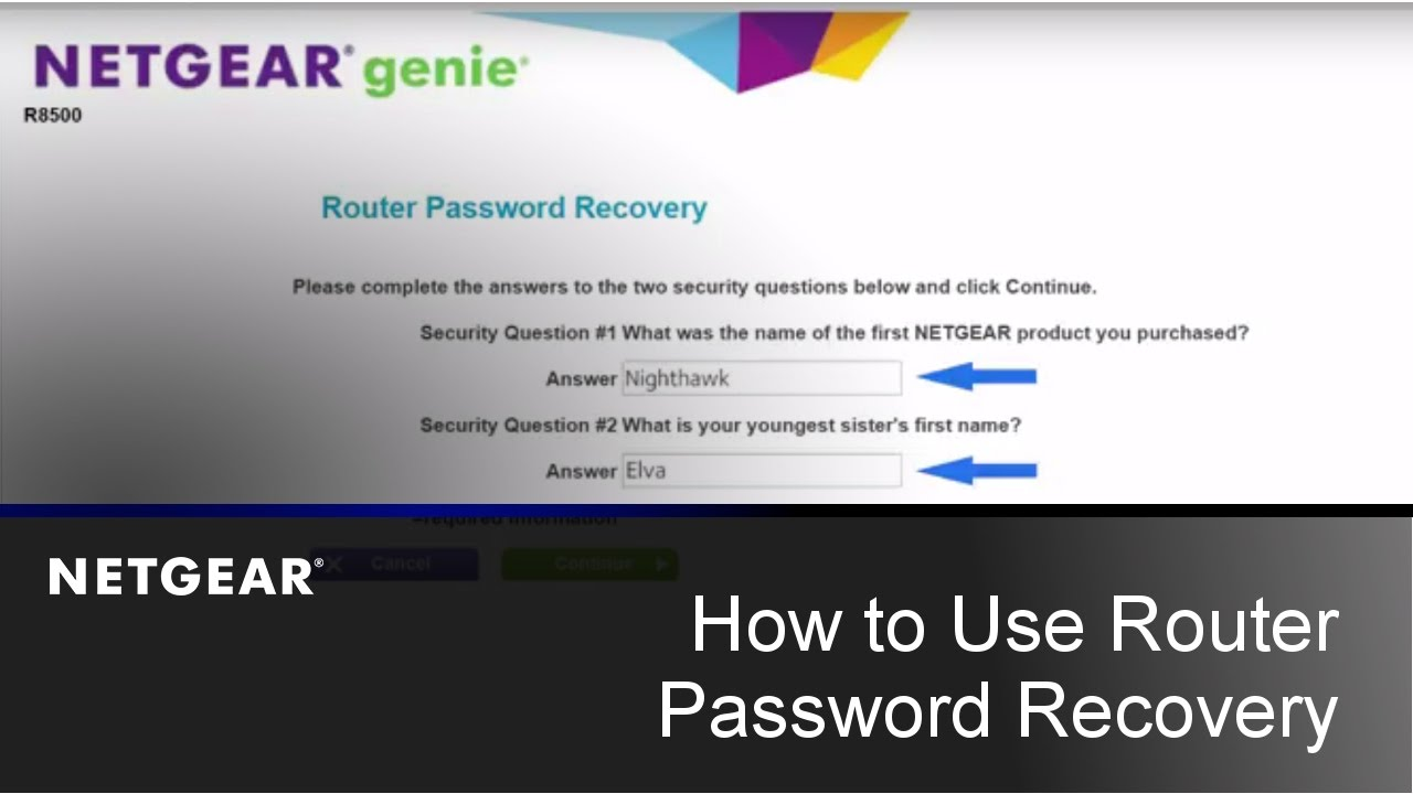 How do I recover my NETGEAR admin password using the password