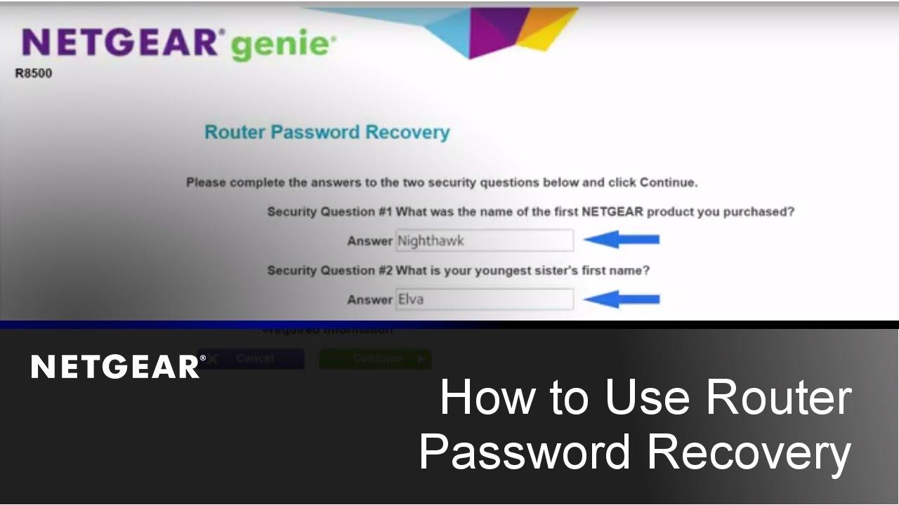 How do I recover my NETGEAR admin password using the password