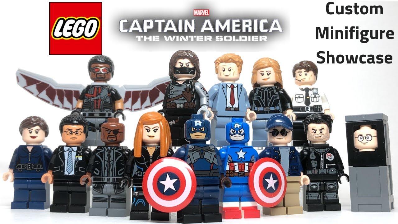 Captain America Minifigures Infinity War Figure for CUSTOM Lego Minifigure