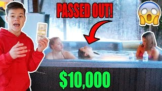 Last To Leave The Hot Tub Wins $10,000 - Challenge