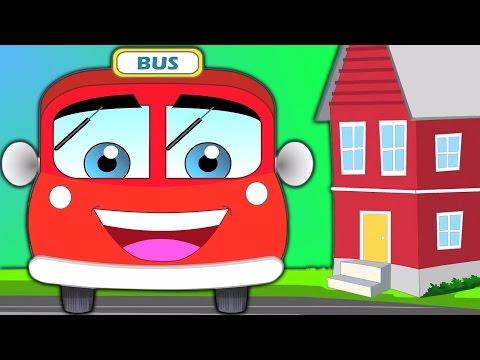 ruedas en el Omnibus rojo | Compilación | rima popular de guardería