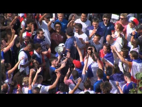 France fans fill Paris's Champs Elysees for victory parade