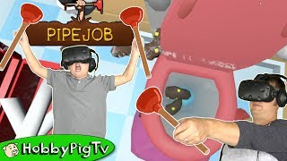 Pipe Job Virtual Reality Plumber Stinky Game HobbyPigTV