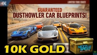 NFS No Limits | Spending 10.000 Gold on Dusthowler Crates!