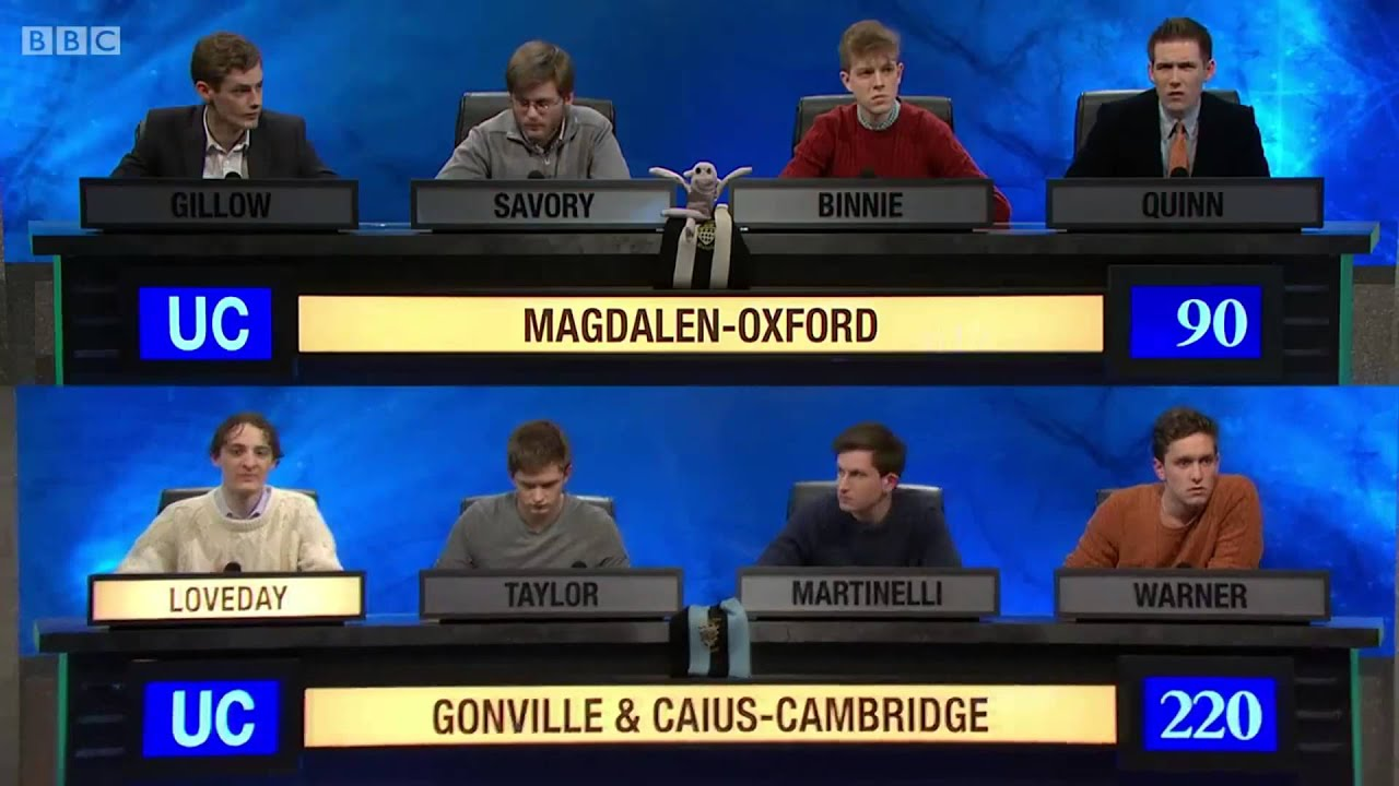University Challenge Ted Loveday Hapax Legomenon Extreme