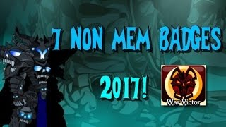 how to get 7 cool non mem badges 2017 aqw adventurequestworlds