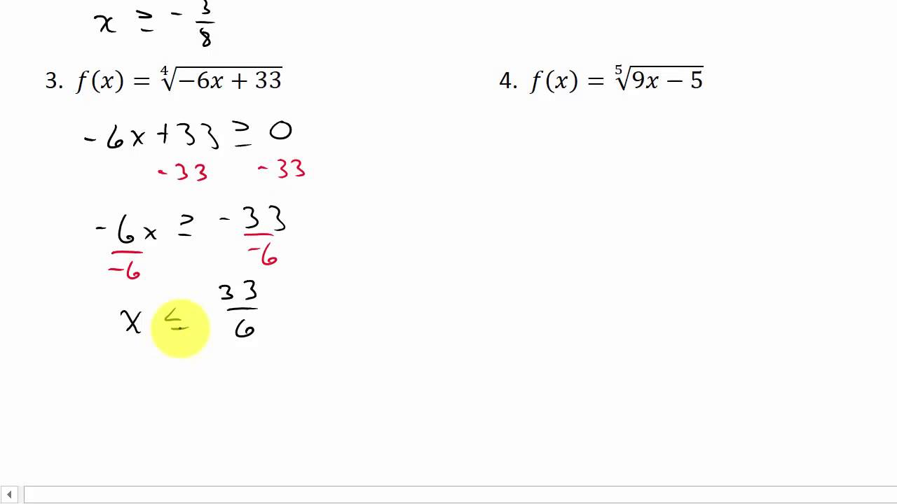 Finding domain of a radical function youtube finding domain of a radical function ccuart Image collections