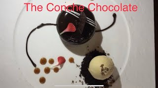 Matt's playtime.  Checking a chocolate boutique The Conche in Leesburg Virginia