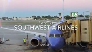 SOUTHWEST AIRLINES   BOEING 737-7H4   SNA-SFO   FULL FLIGHT  