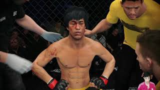 BRUCE LEE VS ALAN JOUBAN - UFC FULL FIGHT # UFC 4