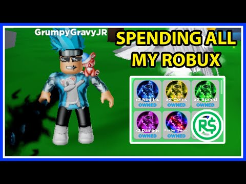 I Spent All My ROBUX In Roblox Ninja Legends