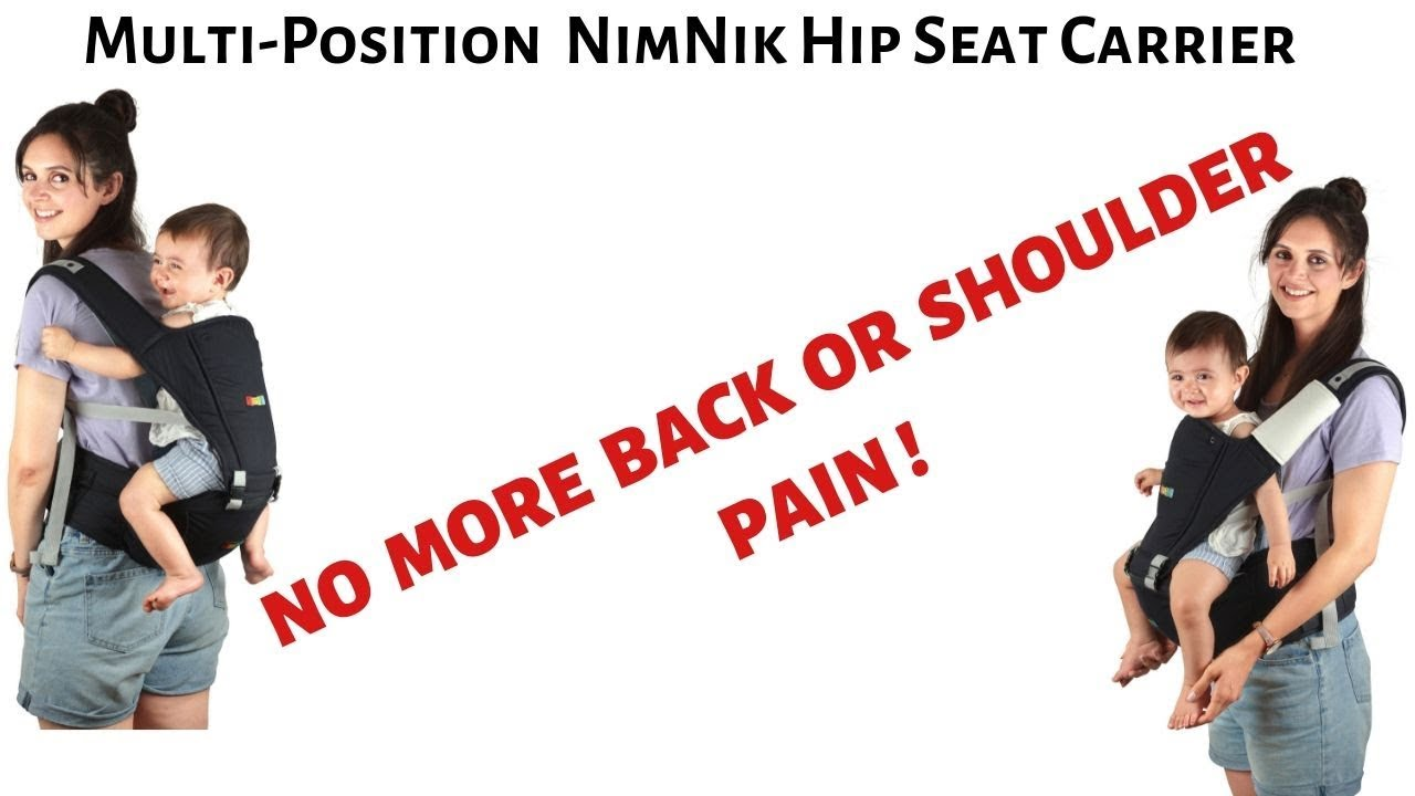 Baby Carrier Hip Seat Sling By Nimnik Best Safe Backpack Carriers Back Pain Support Pearl Black
