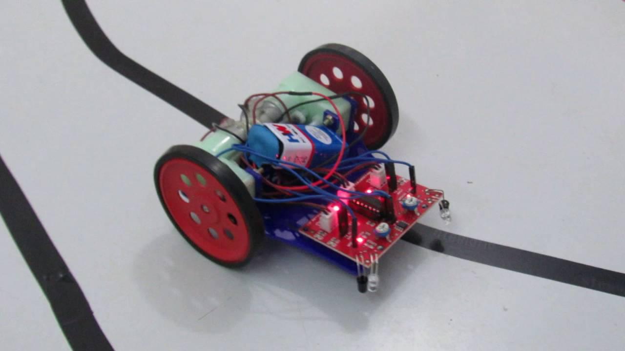 Diy Kit Line Follower Robot Logic Bot 2 Transistor