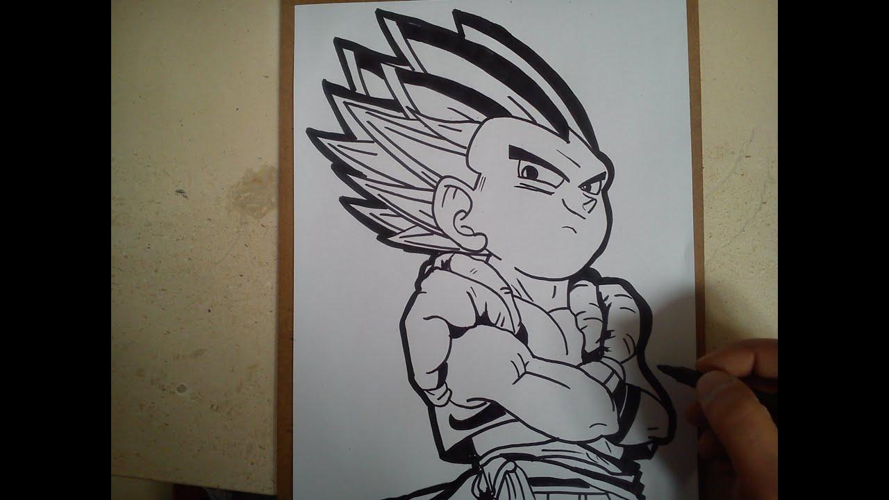 Como dibujar a gotenks de dragon ball z how to draw a for Eight ball tattoo removal