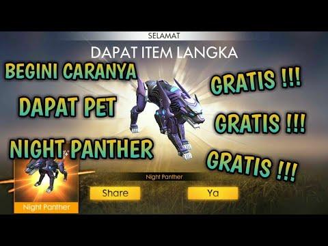 BUKAN CHEAT !!! BEGINI CARA DAPAT PET NIGHT PANTHER GRATIS TANPA DIAMOND FREE FIRE INDONESIA