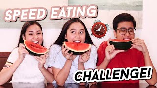 SPEED EATING CHALLENGE w/ MY SIBLINGS! | ThatsBella