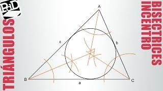 Incentro de un triángulo (bisectrices).