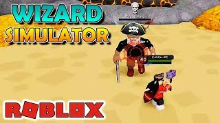 BATALHA CONTRA REI PIRATA - Wizard Simulator Roblox #07