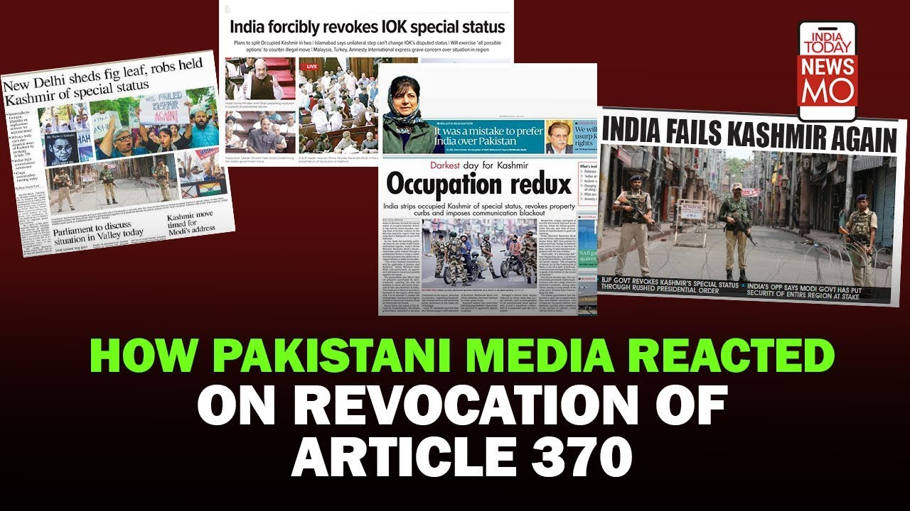 Pakistan Media's Reaction On Scrapping Of Article 370   #VerticalVideo