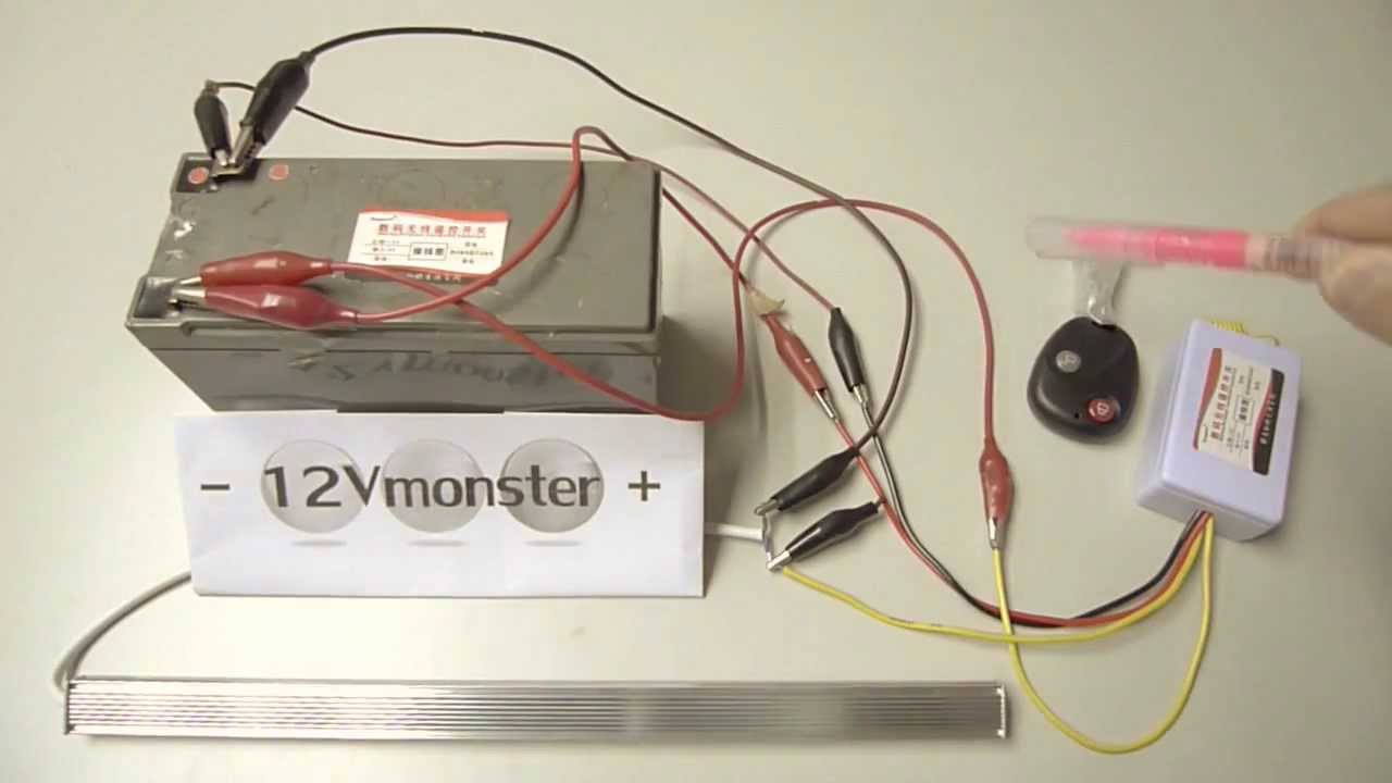 6 volt and 12 volt 1 channel remote control wireless switch set up universal power button dc 12v [ 1280 x 720 Pixel ]