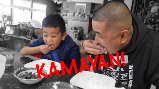 TEACHING CJ HOW TO EAT WITH HIS HANDS   KAMAYAN NA