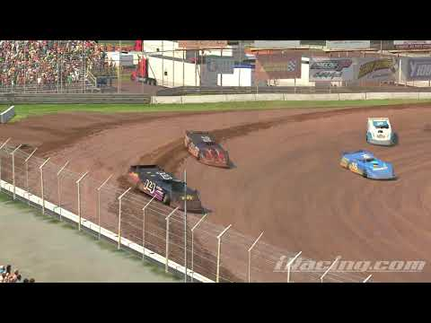 iRacing: Awesome battle for 2nd place @Lernerville speedway