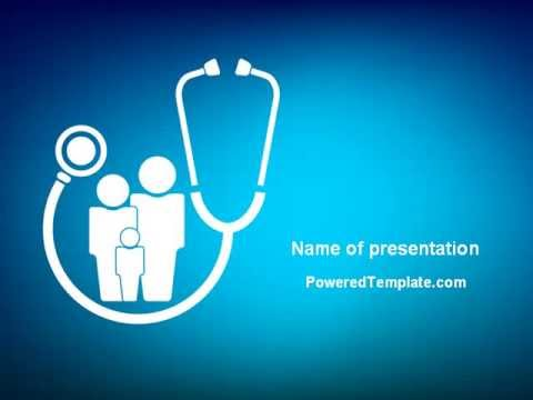 Family medicine powerpoint template by poweredtemplate youtube toneelgroepblik Images