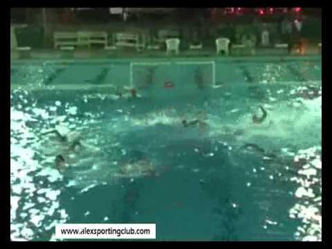 مباراة كرة الماء بين سبورتنج وهليوبوليس تحت 18 سنه