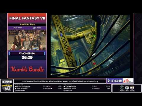 [SGDQ17 Restream FR] Final Fantasy VII (Any% No Slots)