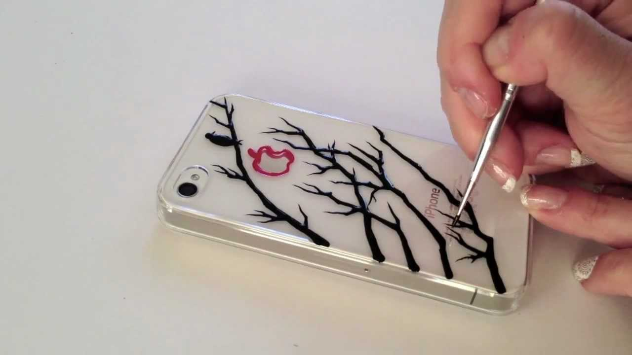 Drawing on iPhone Case A Bird On The Tree YouTube