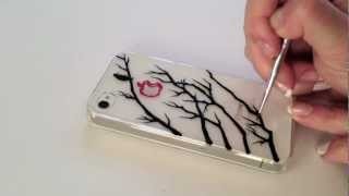 DIY : speed ink drawing on phone case | A Bird on the Tree