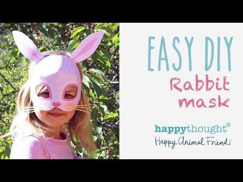 Printable Rabbit Mask Template + Easy Diy Costume Idea!