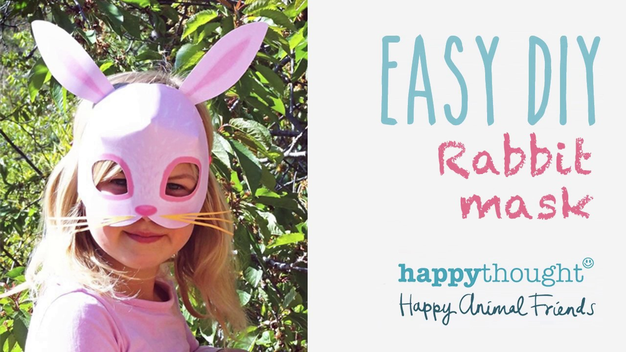 graphic about Printable Bunny Mask identified as Printable rabbit mask template + basic do-it-yourself dress notion!