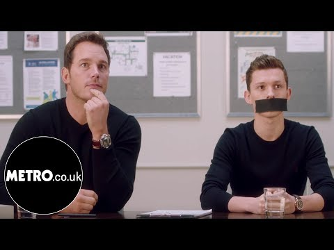 Avengers Infinity War Stars Gag Tom Holland To Stop Him Giving Spoilers | Metro.co.uk