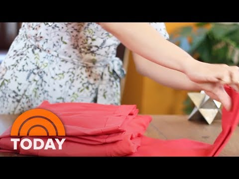 Travel Hack Makes Folding A Suit For Luggage Simple | TODAY