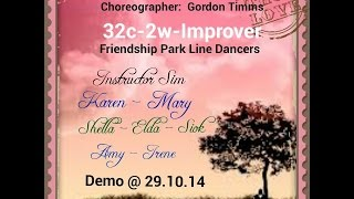 SAD TO BE ALONE ( Gordon Timms ): Friendship Park Line Dancers @ 29.10.2014