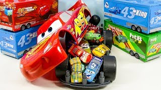Learning Color Disney Pixar Cars Lightning McQueen mack truck big size car case play video for kids