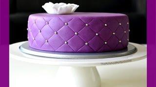 Quilted Cake - gestepptes Muster - Fondanttorte mit quilted / gestepptem Muster - von Kuchenfee