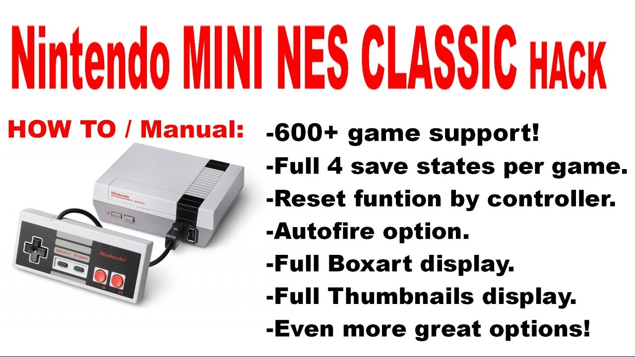 Nintendo Mini NES Classic hacked again! (600+ games support!) by Psygho77