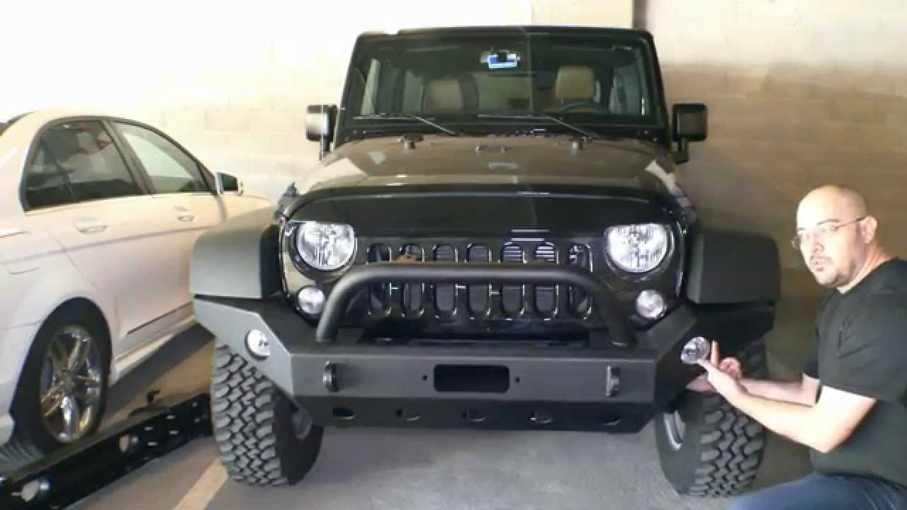 Install Instructions For E Autogrilles 51 0360 07 15 Jeep Wrangler Winch Wiring Schamitic Jk Full Width Front Bumper Youtube